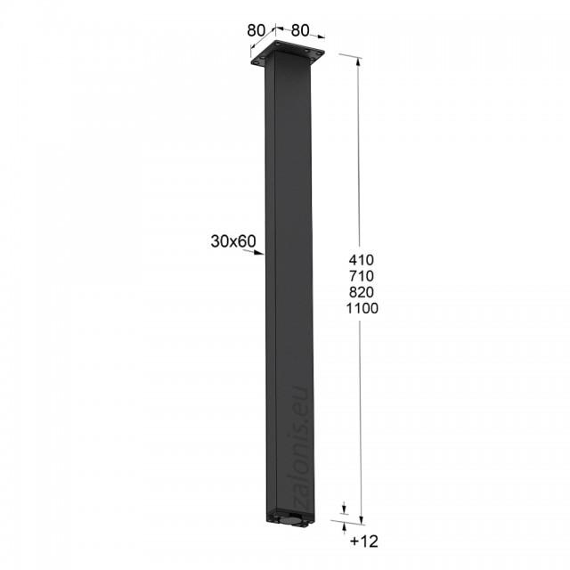 SQUARE LEG 30x60 MAT BLACK